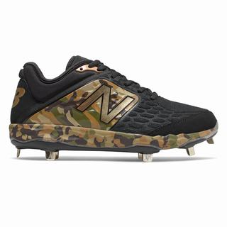 New Balance Fresh Foam 3000v4 Turf Armed Forces Day Mens Baseball Shoes Black Camo Green (TNDK7604)