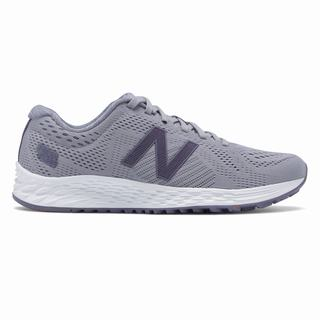 New Balance Fresh Foam Arishi Sport Womens Running Shoes Grey Deep Purple (YHFS9759)