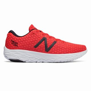 New Balance Fresh Foam Beacon Mens Running Shoes Red Orange White (DSVQ3667)
