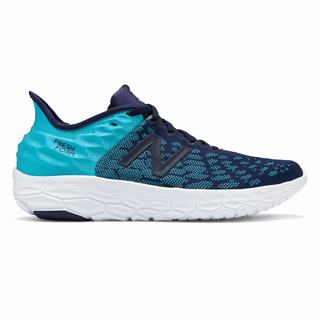 New Balance Fresh Foam Beacon v2 Mens Running Shoes Blue White (KHCQ3658)