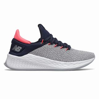 New Balance Fresh Foam Lazr v2 Sport Womens Training Shoes Grey Navy Pink White (ACXW9086)