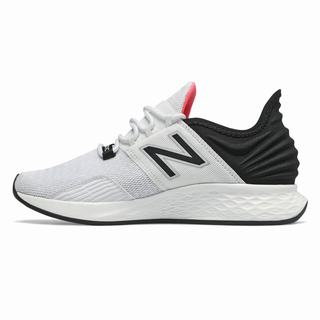 New Balance Fresh Foam Roav Womens Running Shoes White Black Orange (WVDE4528)