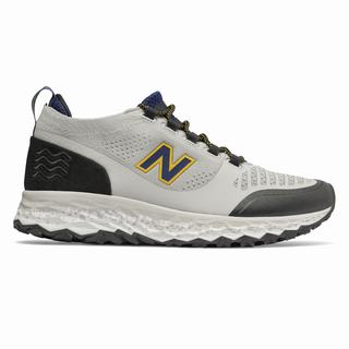 New Balance Fresh Foam Trailbuster Mens Running Shoes Grey Black Navy Gold (LDGC6304)