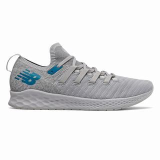 New Balance Fresh Foam Zante Trainer Mens Casual Shoes Light Grey Deep Blue (IPGE7371)