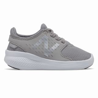 New Balance FuelCore Coast v3 Kids Running Shoes Grey Silver (IQVO5670)