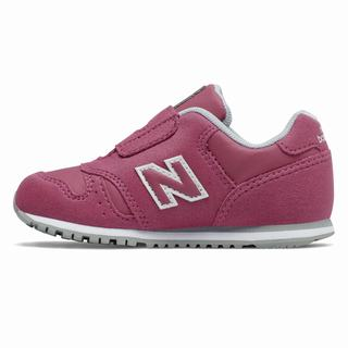 New Balance Hook and Loop 373 Kids Casual Shoes Dark Pink Grey (VRTE8335)