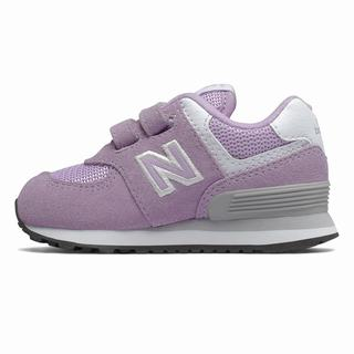 New Balance Hook and Loop 574 Kids Casual Shoes Pink White (SQVD7620)