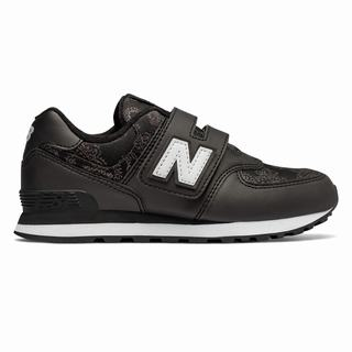 New Balance Hook and Loop 574 Paisley Camouflage Kids Casual Shoes Black (ALBW5329)