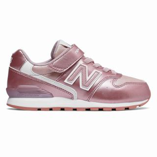 New Balance Hook and Loop 996v2 Kids Casual Shoes Rose Gold White (NASI2405)