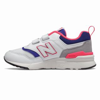 New Balance Hook and Loop 997 Kids Casual Shoes White Blue (FVSC8810)