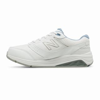 New Balance Leather 928v3 Womens Walking Shoes White (SADM5510)