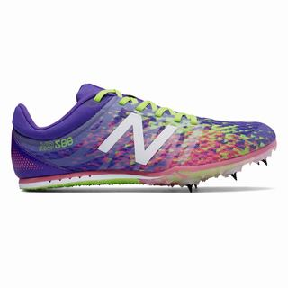 New Balance MD500v5 Spike Womens Running Shoes Purple Green Orange (LDIE8480)