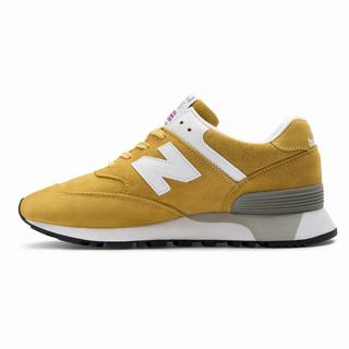 New Balance Made in UK 576 Colour Circle Womens Casual Shoes Gold White (CWXF6285)