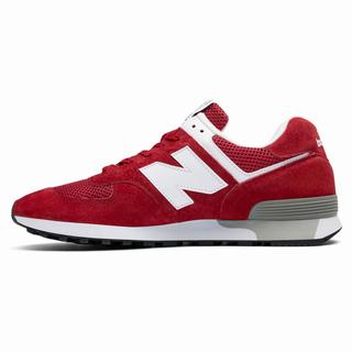 New Balance Made in UK 576 Colour Circle Mens Chunky Trainers Red White (SQPR1642)