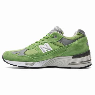 New Balance Made in UK 991 Mens Casual Shoes Green Grey White (IKXW6911)