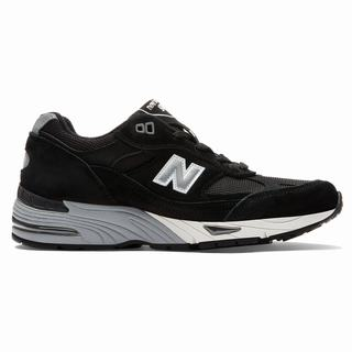 New Balance Made in UK 991 Pigskin Womens Casual Shoes Black Silver (YJML9576)