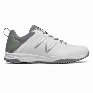 New Balance NB Draw Turf Womens Lacrosse Cleats White Grey (VNUO8864)