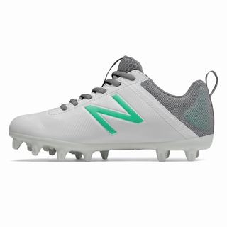 New Balance NB Draw Womens Lacrosse Cleats White Turquoise (VACQ8304)