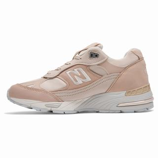 New Balance Nubuck 991 Womens Casual Shoes Tan Grey (NURJ8943)