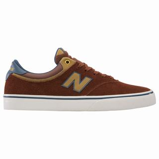 New Balance Numeric 255 Mens Casual Shoes Brown Light Blue (VTDX6386)