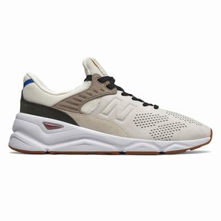 New Balance X-90 Mens Casual Shoes Beige White (EKZD4676)