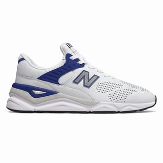 New Balance X-90 Mens Casual Shoes White Navy (JQWV7648)