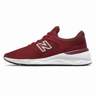 New Balance X-90 Mens Chunky Trainers Burgundy Navy (IUMB3472)