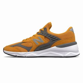 New Balance X-90 Mens Chunky Trainers Gold (YESA9557)