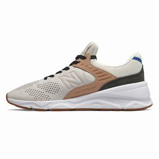 New Balance X-90 Mens Chunky Trainers Beige White (UOPE8378)