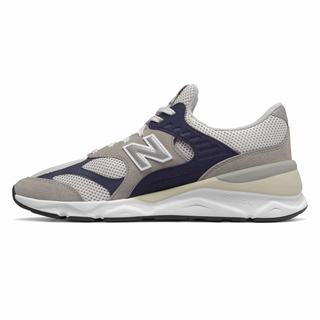 New Balance X-90 Reconstructed Mens Casual Shoes Grey White Navy (SDYW6898)