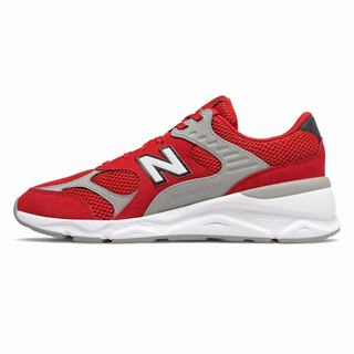 New Balance X-90 Reconstructed Mens Casual Shoes Red Grey (AIGJ7578)