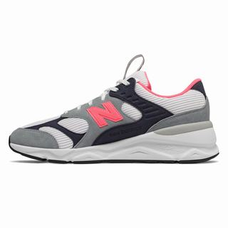 New Balance X-90 Reconstructed Mens Chunky Trainers Grey Pink White Navy (TNVR2775)
