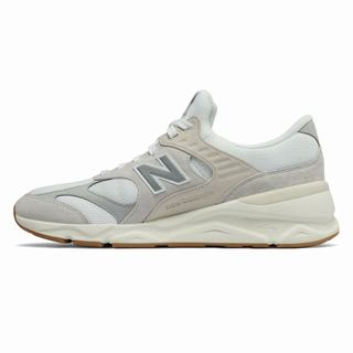 New Balance X-90 Reconstructed Mens Chunky Trainers Grey Beige (GHWF3624)
