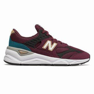 New Balance X-90 Reconstructed Womens Casual Shoes Burgundy Black (HAFT2460)