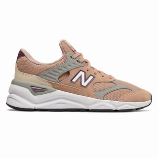 New Balance X-90 Reconstructed Womens Chunky Trainers Pink Tan Grey (HGTO9345)