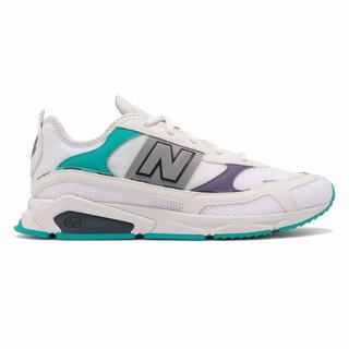 New Balance X-Racer Mens Casual Shoes White Purple Light Green (TIGX4957)