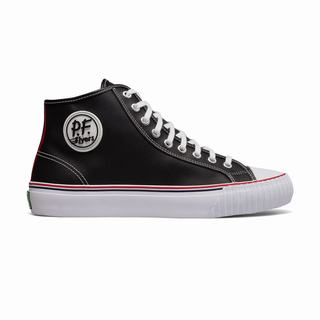 Pf Flyers Center Hi Leather Mens Sneakers Black (GQOK7148)