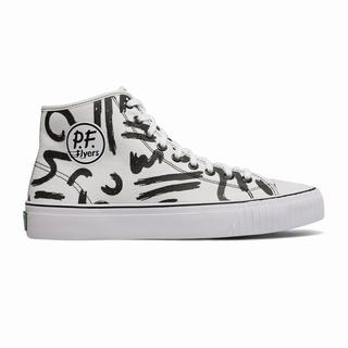 Pf Flyers Center Hi Mens Sneakers White Black (PNSH5904)