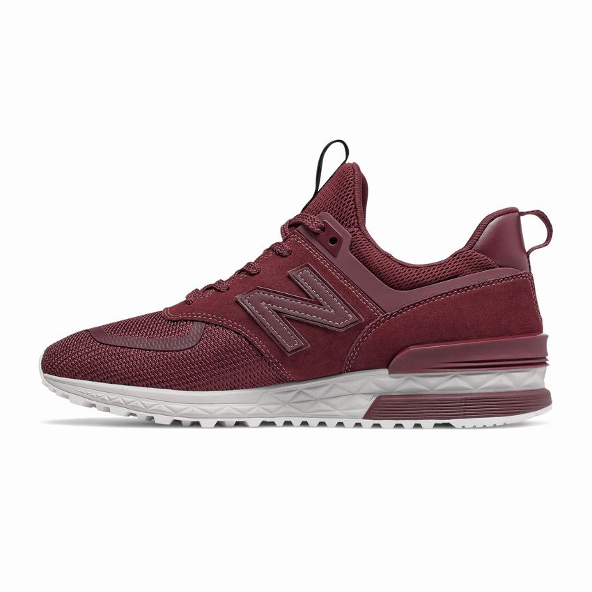 Barricada Saludo Teoría básica  Wholesale New Balance Casual Shoes - 574 Sport Mens Burgundy White Sneakers