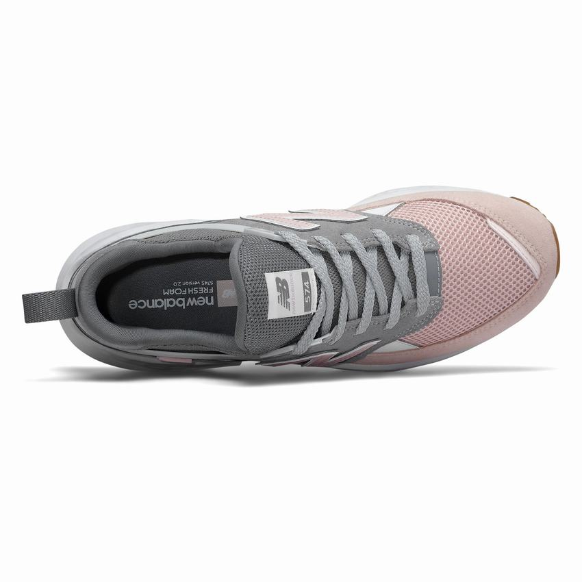 lowest price 53e2c 8f59e New Balance 574 Sport Clearance - Mens Grey Pink Casual Shoes