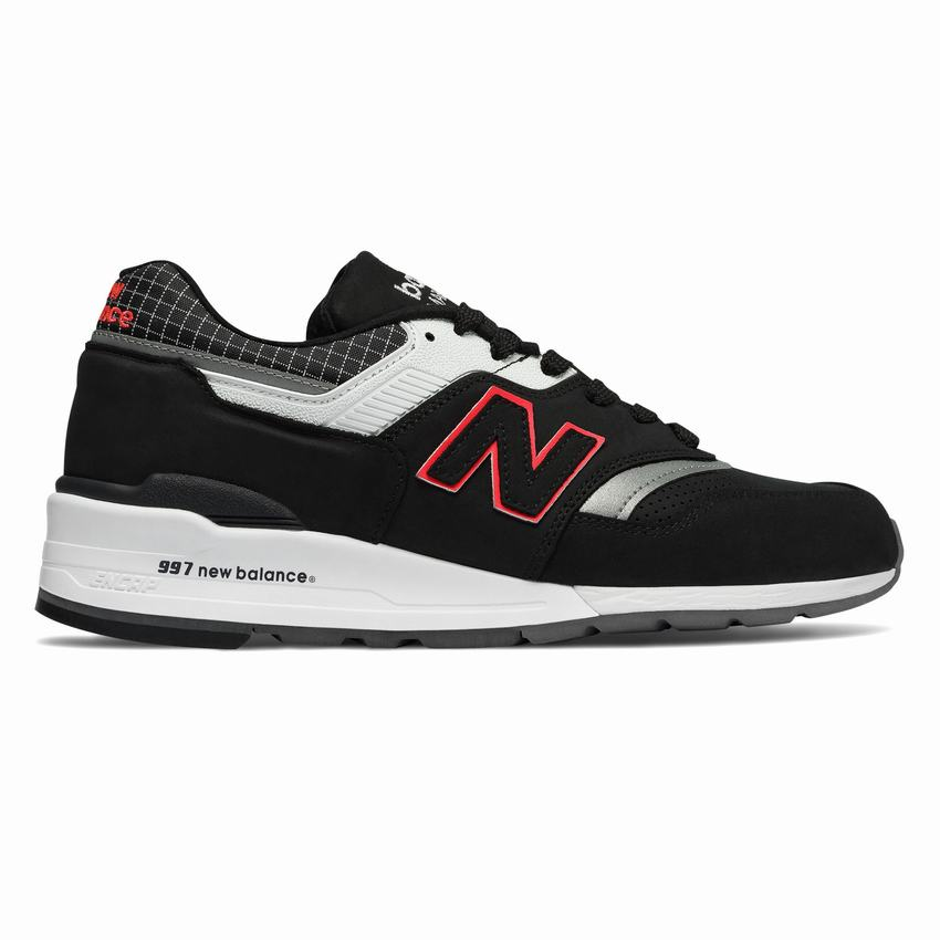 Descifrar Flojamente puñetazo  Discount New Balance Casual Shoes - 997 Made in US Color Spectrum Mens  Black White Red Sneakers Canada